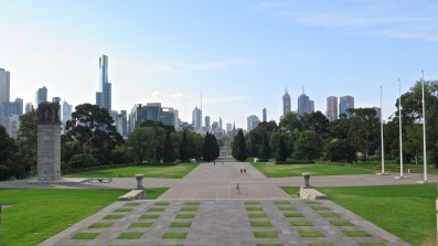 Vue depuis le Shrine of Remembrance