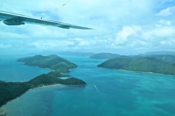 Whitsundays Islands vues du ciel