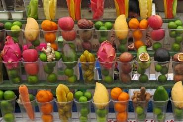 Fruit shakes au marché de nuit