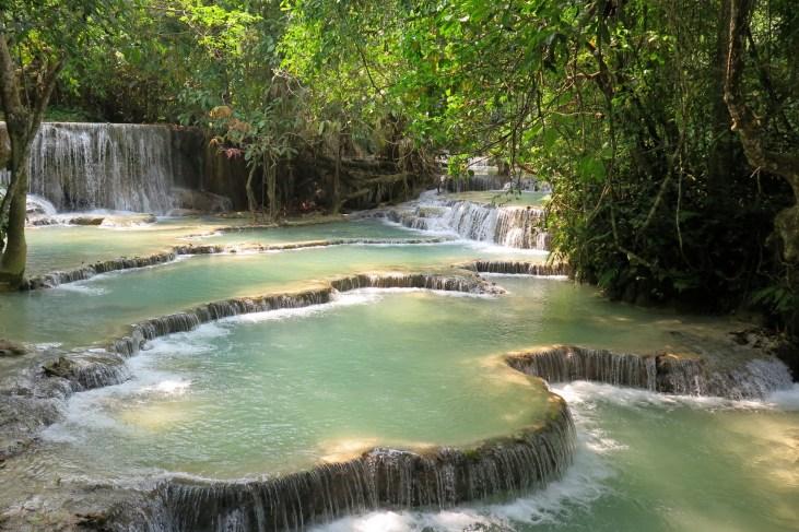 Bassins du bas de la cascade Kouang Si