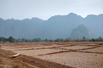 Rizières sèches, plus loin dans la même vallée