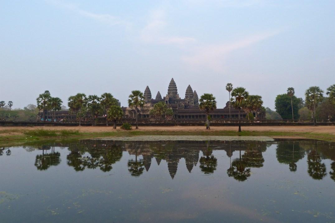 Angkor Wat en fin de journée Cambodge blog voyage