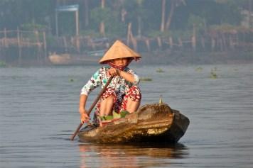 Pirogue Can Tho Delta Mekong Vietnam blog voyage 2016 19