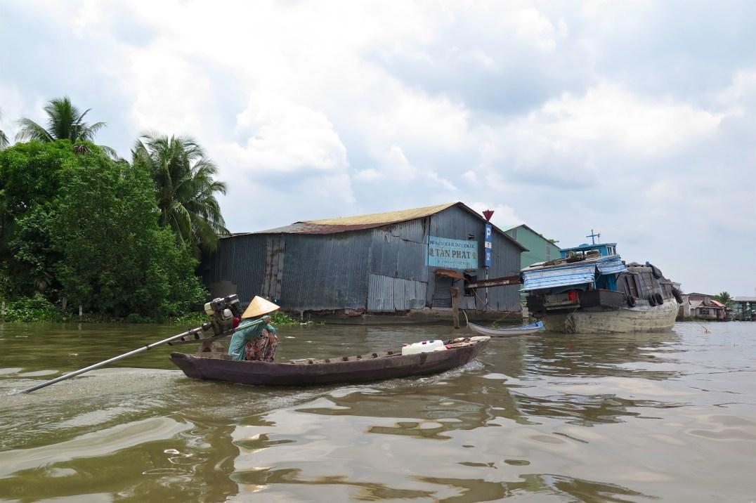 Pirogue Can Tho Delta Mekong Vietnam blog voyage 2016 37