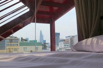 Vue chambre Hochiminh ville Vietnam blog voyage 2016 8