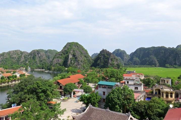 Vue Hotel Tam Coc Baie Halong terrestre Vietnam blog voyage 2016 1