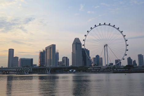 Sunset Skyline Singapour blog voyage 2016 6
