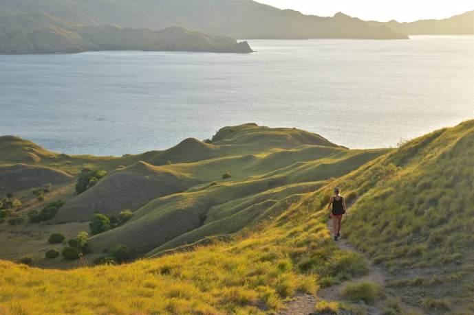 En chemin vers le sommet de l'île