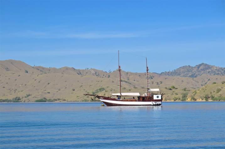 Notre bateau, le Duyong, au mouillage