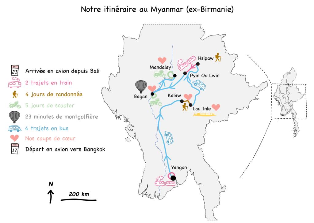 Carte-bilan-trajet-Myanmar-Birmanie-blog-voyage-2016