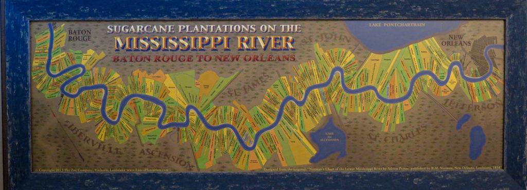 Une journée le long du Mississippi - Carte des plantations Elise on the way blog voyage US Louisiana-3