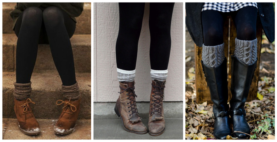 Knit Socks and Boots Mood Board
