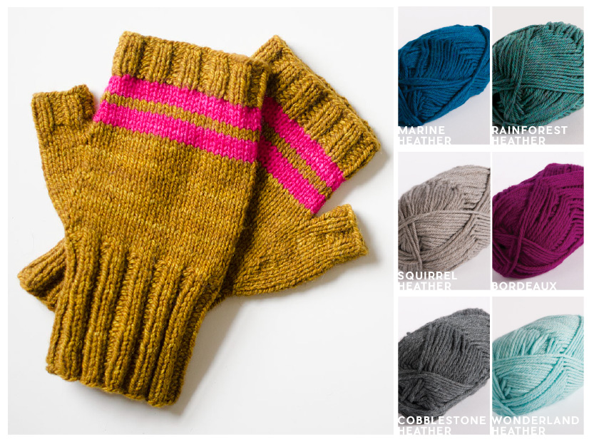5 Quick Knits to Gift | Paddle Mitts KnitPicks Color Combos