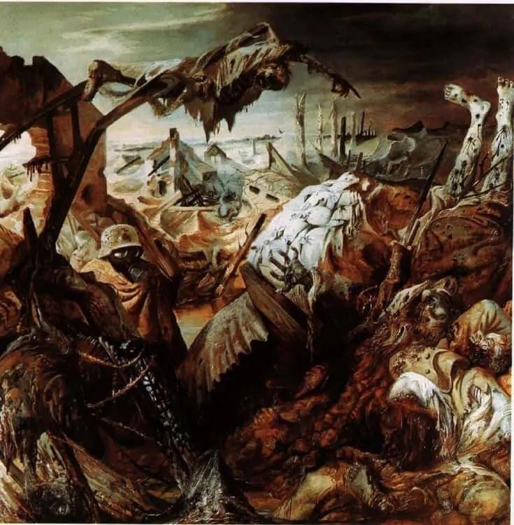 The Trench warfare by Otto Dix