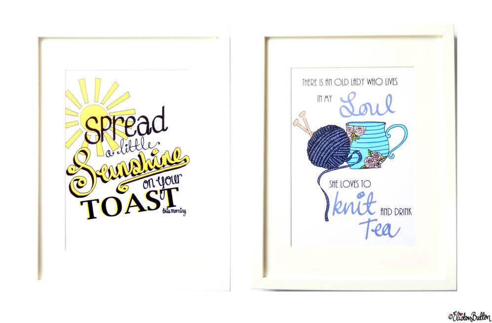 Typographic Quote Illustration Wall Art Prints by Eliston Button - About Me at www.elistonbutton.com - Eliston Button - That Crafty Kid – Art, Design, Craft & Adventure.