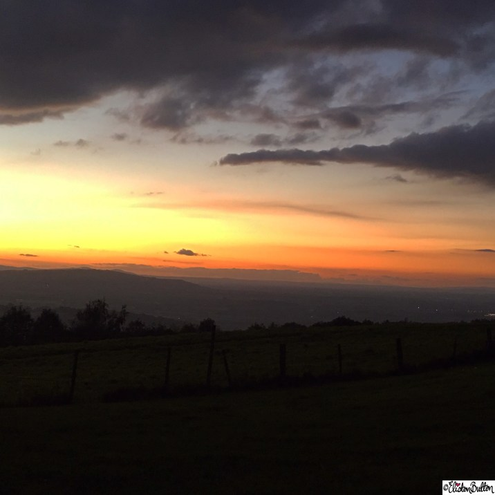 Beautiful Sunset from Broadway Hill in the Cotswolds, UK - Around Here…October 2015 at www.elistonbutton.com - Eliston Button - That Crafty Kid