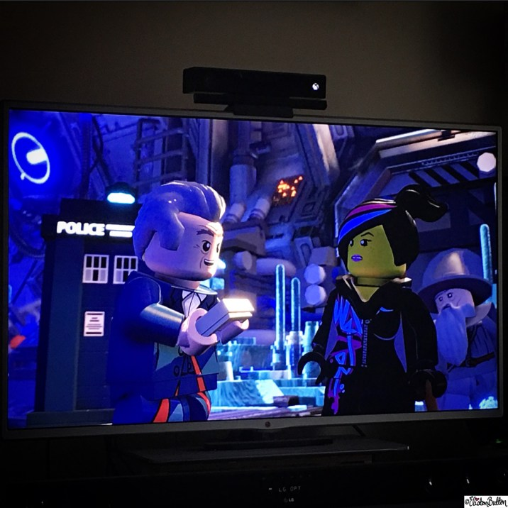 Lego Doctor Who with Wildstyle and Gandalf in Lego Dimensions - Around Here...November 2015 at www.elistonbutton.com - Eliston Button - That Crafty Kid – Art, Design, Craft & Adventure.