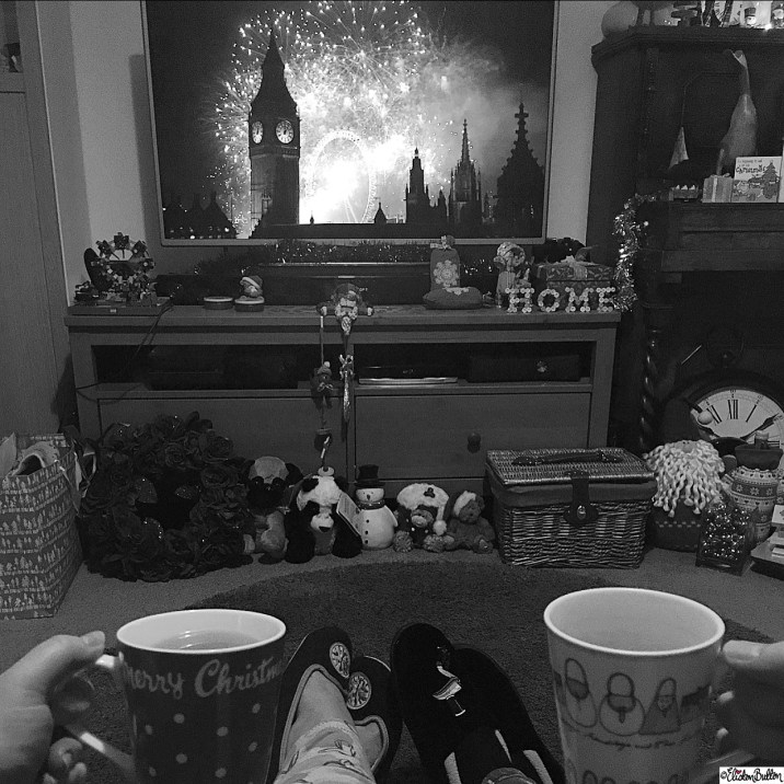 Day 01 - Black + White - New Years Eve Fireworks with a Cup of Tea - Photo-a-Day - January 2016 at www.elistonbutton.com - Eliston Button - That Crafty Kid – Art, Design, Craft and Adventure.