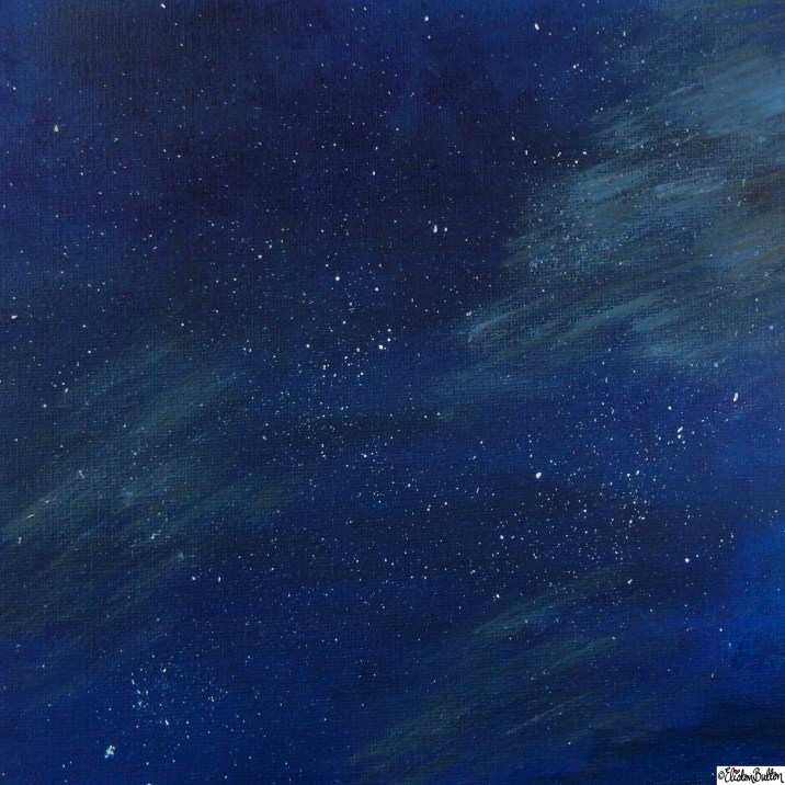 Day 22 - Night - Starry Night Sky Painted Canvas by Eliston Button on Etsy - Photo-a-Day - January 2016 at www.elistonbutton.com - Eliston Button - That Crafty Kid – Art, Design, Craft and Adventure.