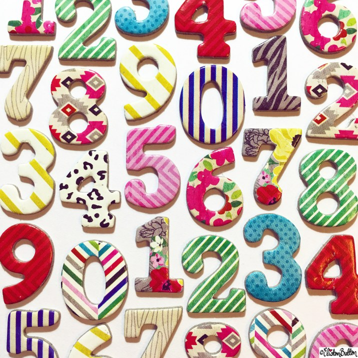 Day 25 - Numbers - American Crafts Thickers Numbers - Photo-a-Day - January 2016 at www.elistonbutton.com - Eliston Button - That Crafty Kid – Art, Design, Craft and Adventure.