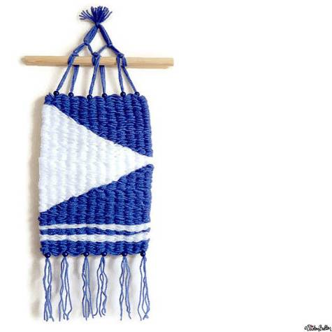 Day 23 - A Favourite - Nautical Themed Blue and White Woven Wall Hanging by Eliston Button - Photo-a-Day – March 2016 at www.elistonbutton.com - Eliston Button - That Crafty Kid – Art, Design, Craft & Adventure.