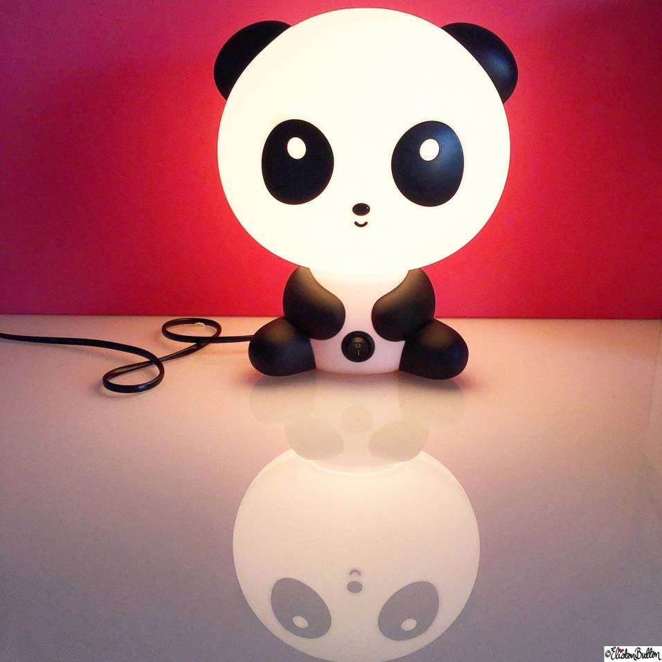 Day 29 - Night Lights - Panda Bear Lamp Light - Photo-a-Day – March 2016 at www.elistonbutton.com - Eliston Button - That Crafty Kid – Art, Design, Craft & Adventure.