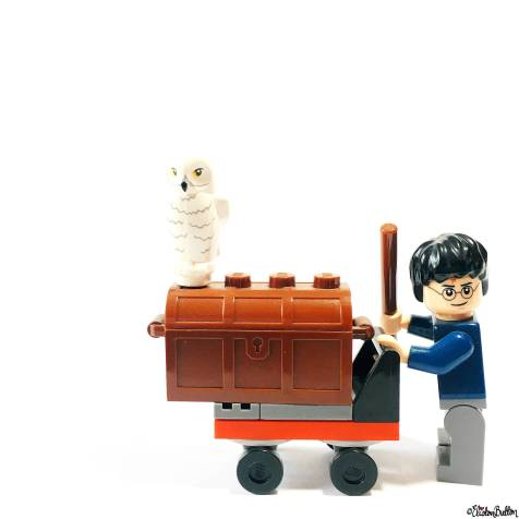 Day 30 - Buddies - Harry Potter Lego Minifigure with Trunk and Hedwig Owl - Photo-a-Day – March 2016 at www.elistonbutton.com - Eliston Button - That Crafty Kid – Art, Design, Craft & Adventure.