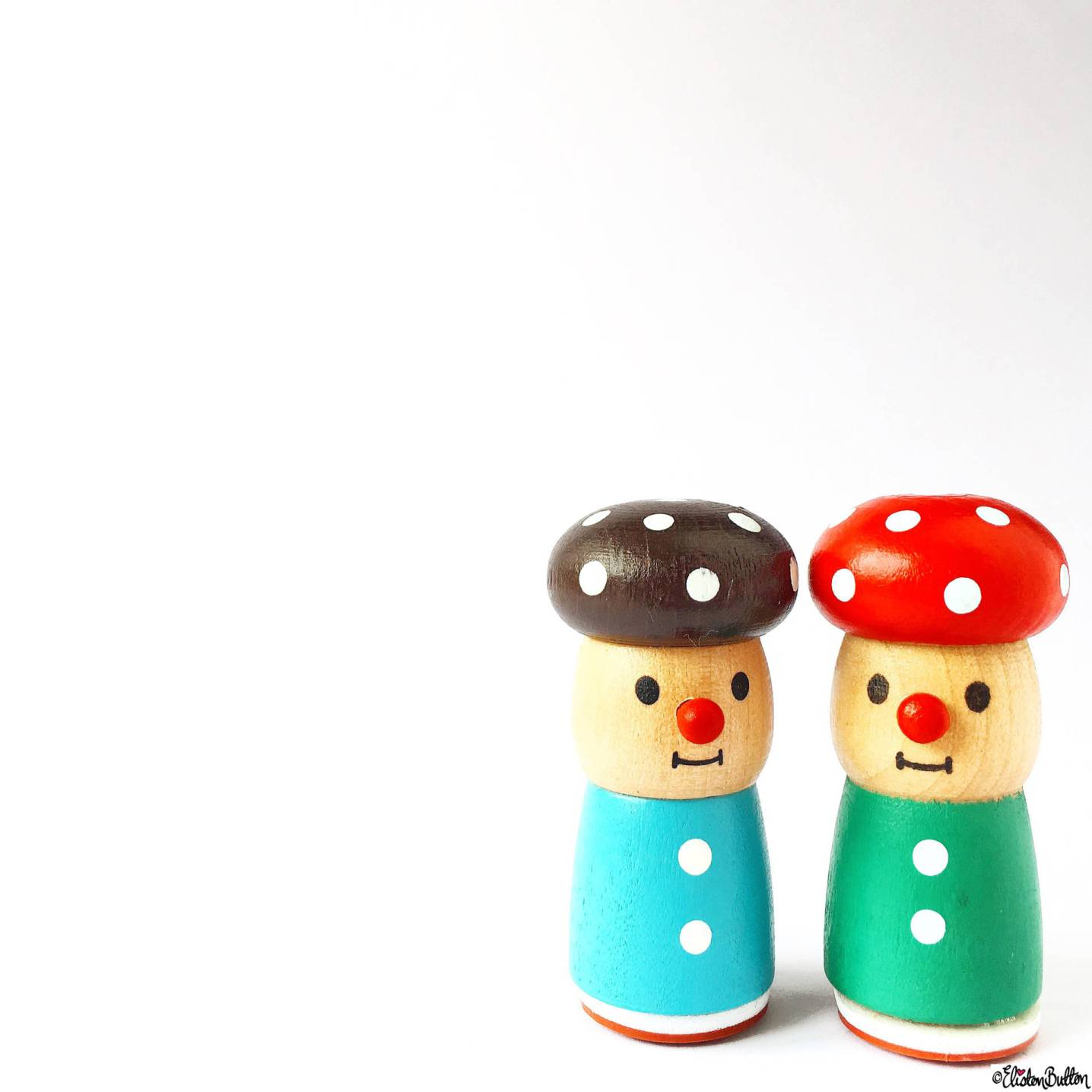 Day 08 - Pair - Little Toadstool Stamp People - Photo-a-Day – April 2016 at www.elistonbutton.com - Eliston Button - That Crafty Kid – Art, Design, Craft & Adventure.