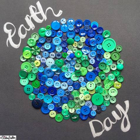 Day 22 - Earth - Earth Day Button Art - Photo-a-Day – April 2016 at www.elistonbutton.com - Eliston Button - That Crafty Kid – Art, Design, Craft & Adventure.
