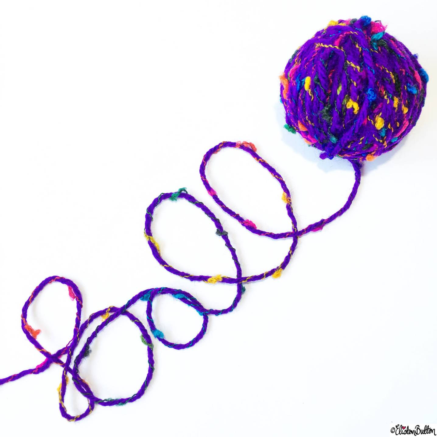 Day 04 - Ball - Ball Word Art in Wool/Yarn - Photo-a-Day – May 2016 at www.elistonbutton.com - Eliston Button - That Crafty Kid – Art, Design, Craft & Adventure.
