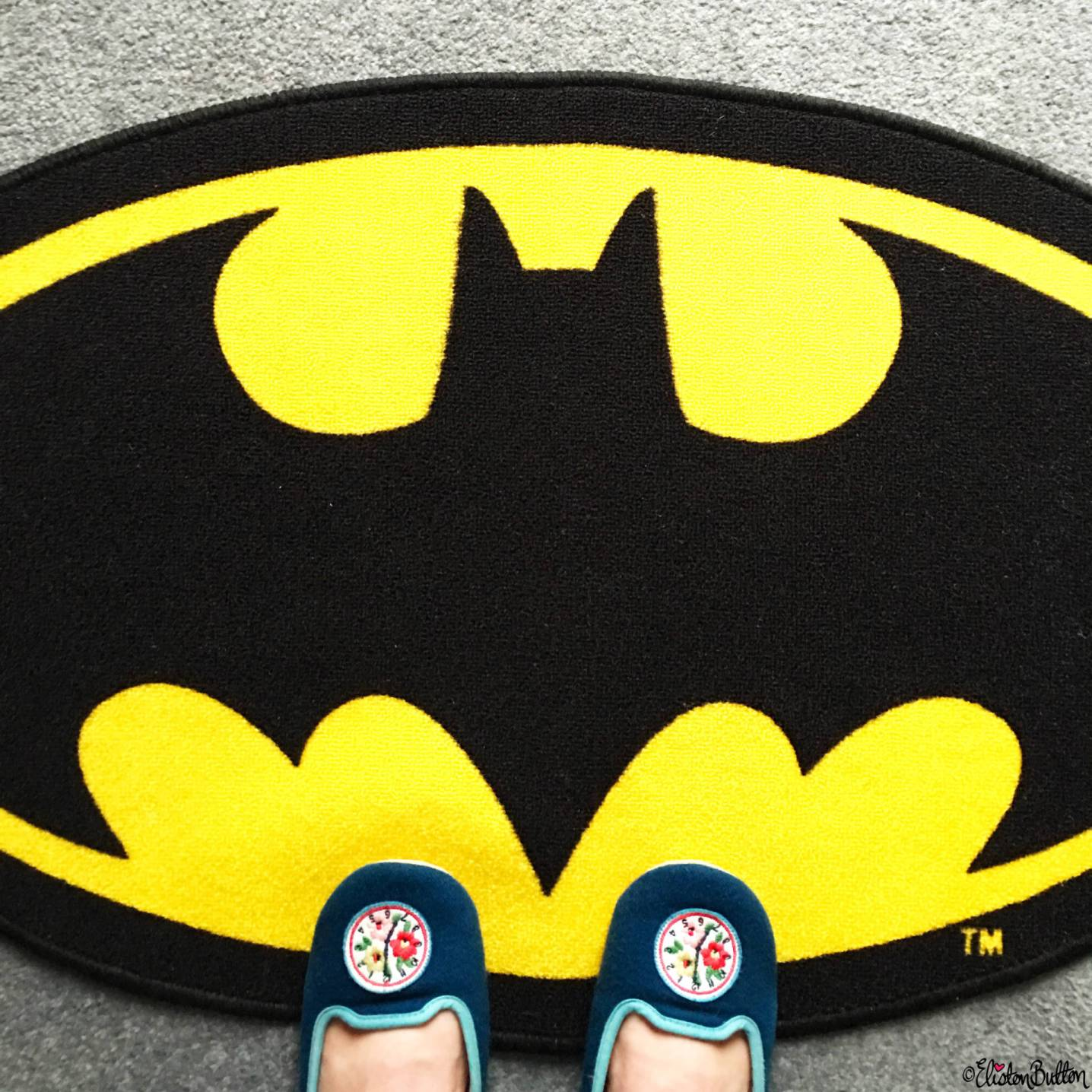 Day 08 - Where I Stood - Cath Kidston Slippers and Batman Rug - Photo-a-Day – June 2016 at www.elistonbutton.com - Eliston Button - That Crafty Kid – Art, Design, Craft & Adventure.