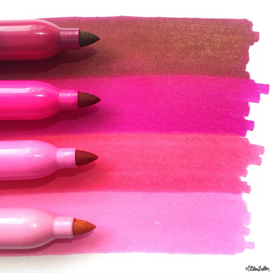 Day 09 - Four Things - Four Pink Sharpie Markers - Photo-a-Day – June 2016 at www.elistonbutton.com - Eliston Button - That Crafty Kid – Art, Design, Craft & Adventure.