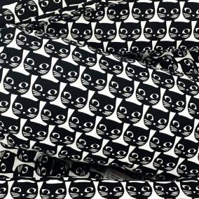 Black and White Cat Print Fabric in IKEA - The Patterns and Colours of IKEA at www.elistonbutton.com - Eliston Button - That Crafty Kid – Art, Design, Craft & Adventure.