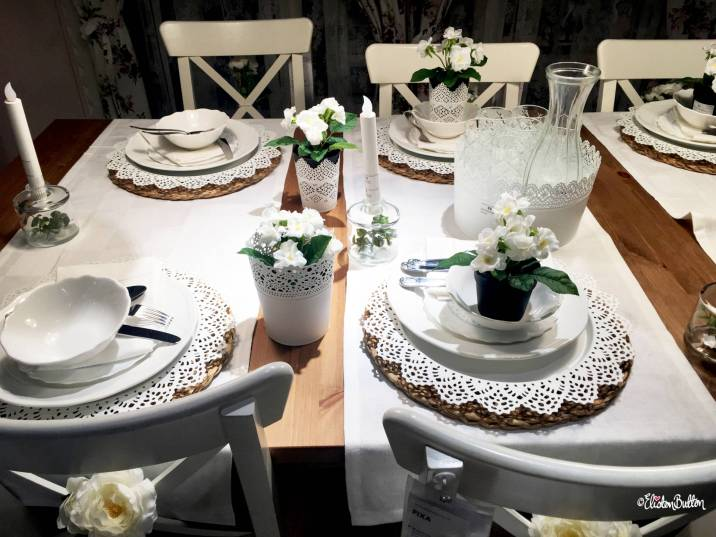White Lace Effect Dining Accessories at IKEA, Birmingham - The Patterns and Colours of IKEA at www.elistonbutton.com - Eliston Button - That Crafty Kid – Art, Design, Craft & Adventure.