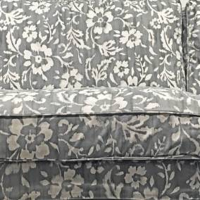 White and Grey Floral Print Sofa at IKEA, Birmingham - The Patterns and Colours of IKEA at www.elistonbutton.com - Eliston Button - That Crafty Kid – Art, Design, Craft & Adventure.