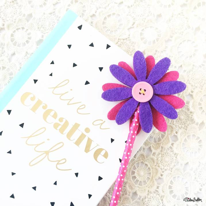 Live a Creative Life Notebook and Flower Pen - Around Here…August 2016 at www.elistonbutton.com - Eliston Button - That Crafty Kid – Art, Design, Craft & Adventure.