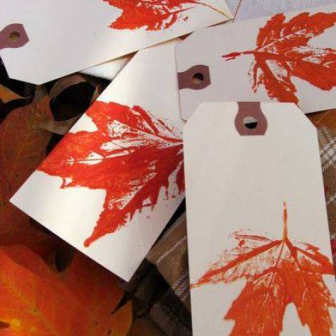 Leaf Prints by Skip to My Lou - Shared on For the Love of…Autumn at www.elistonbutton.com - Eliston Button - That Crafty Kid – Art, Design, Craft & Adventure.