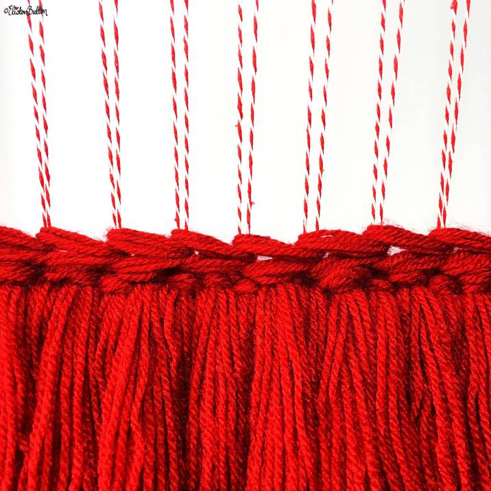 Day 20 - Right Now - Red Weaving on a Loom with Soumak Weave ad Tassels - Photo-a-Day – October 2016 at www.elistonbutton.com - Eliston Button - That Crafty Kid – Art, Design, Craft & Adventure.