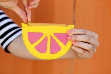 Citrus Wedge Coin Purse Tutorial by Delia Creates Blog - For the Love of…Summer at www.elistonbutton.com - Eliston Button - That Crafty Kid – Art, Design, Craft & Adventure.