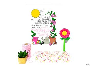 What a Wonderful World Gardening Quote Print by Eliston Button - For the Love of…Summer at www.elistonbutton.com - Eliston Button - That Crafty Kid – Art, Design, Craft & Adventure.
