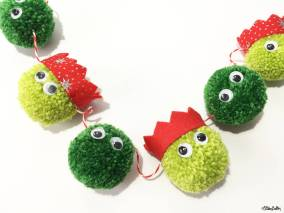 Create 30 - No. 8 - Christmas Sprout Pom Pom Garland by Eliston Button - Create 30 – I Did It! (And Future Plans) at www.elistonbutton.com - Eliston Button - That Crafty Kid – Art, Design, Craft & Adventure.