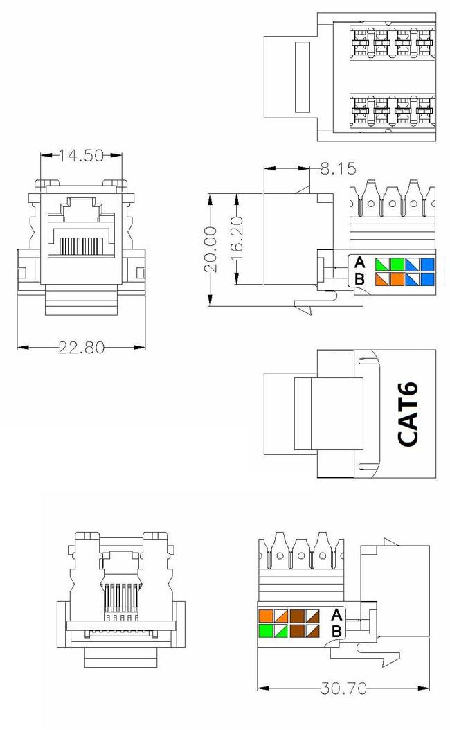 4742455000360 Keystone Jack RJ45 cat6 Elit GlobalStore