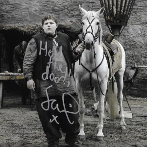 Sam Coleman Signed Young Hodor 10x8
