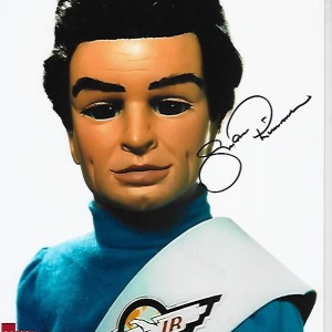 Shane Rimmer Signed Scott Tracey 10x8