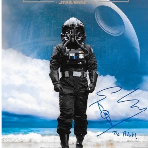 Gary Kiely Signed Rogue One Tie Pilot 10x8