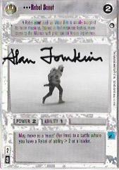 Alan Tomkins Signed Rebel Scout CCG Card