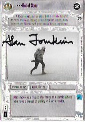 Alan Tomkins Signed Rebel Scout CCG Card