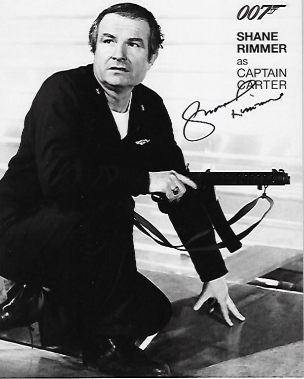 Shane Rimmer Signed Captain Carter 10x8