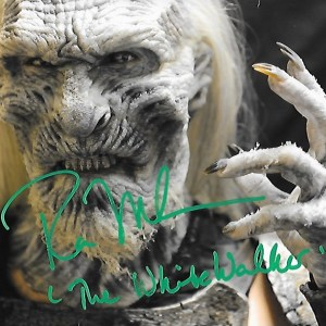 Ross Mullan Signed White Walker 10x8
