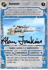 Alan Tomkins Signed Snowspeeder CCG Card